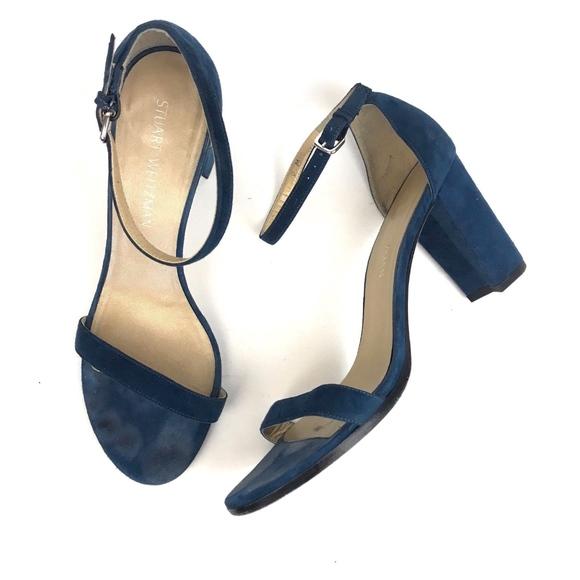 0df9661f70 Stuart Weitzman Shoes | Nearlynude Teal Block Heel Sandal | Poshmark